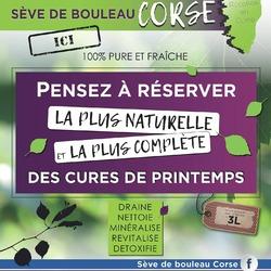 🌿🥰Le bien-être au naturel🥰🌿  ⚠️⚠️⚠️Elle arrive dans votre pharmacie !!!!⚠️⚠️⚠️  Pour purifier votre corps à la sortie de l'hiver, pensez à  la Sève de Bouleau Corse, BIO 100% pure et fraîche!😍  ➡️Draine ➡️Nettoie  ➡️Minéralisé ➡️Revitalise  ➡️Detoxifie  La plus naturelle  et la plus complète des cures de printemps !👍