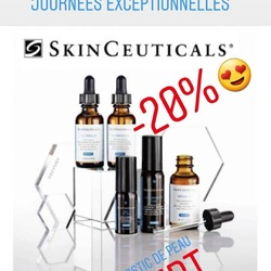 Journees EXCEPTIONNELLES  SKINCEUTICALS 😍😍😍  -20% + Diagnostic de peau OFFERT! Avec ou sans rendez-vous!  0495560001