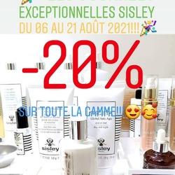 🎉🚨Les journées exceptionnelles SISLEY c'est jusqu'à Samedi 21 Août 2021 seulement!!!🚨🎉 Bénéficiez d'une remise exceptionnelle de -20% sur tous les produits de la gamme!!!😍😍😍 Nos conseillères beauté sont là pour vous conseiller. Profitez en pour découvrir ou redécouvrir les produits SISLEY!🥰